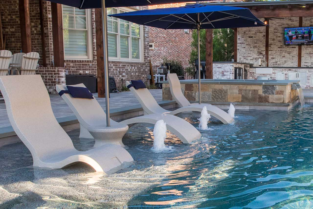 Bubblers Pool Water Feature
